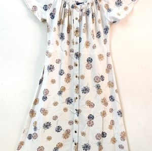 Marks and Spencer Ivory Printed A-Line Dress